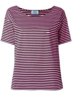 футболка в полоску Prada