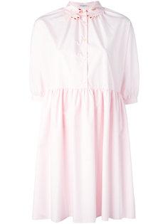платье с вышитым воротником-руками Vivetta