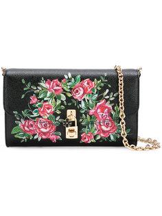 сумка через плечо с принтом роз Dolce & Gabbana