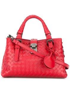 кожаная сумка-тоут с плетеным узором Bottega Veneta
