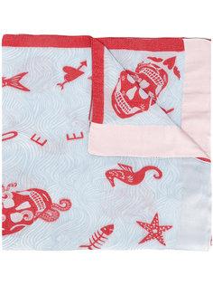 шарф с принтом морских существ Alexander McQueen