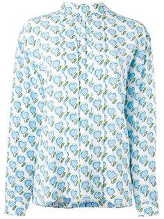 блузка с принтом сердец Prada