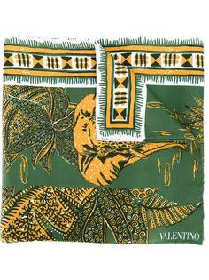 шарф с принтом слонов Valentino