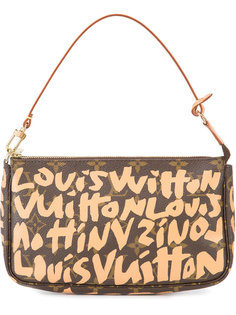 logo print shoulder bag Louis Vuitton Vintage