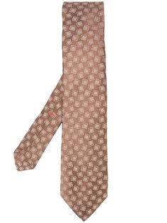 square print tie  Isaia