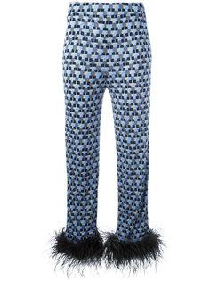 пижамные брюки с мелким узором Prada