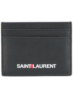 визитница с принтом логотипа Saint Laurent