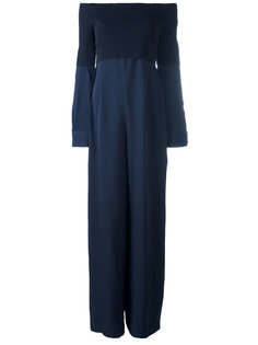 платье с трикотажным топом и открытыми плечами DKNY