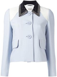 куртка с декорированным воротником Miu Miu