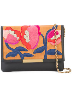 embroidered flowers clutch bag  Lizzie Fortunato Jewels