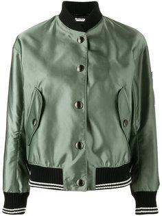 куртка бомбер с нашивками Miu Miu