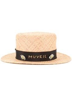 шляпа с декорированной лентой Muveil