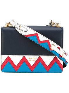 сумка через плечо с зигзагообразным узором Prada