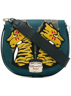 полукруглая сумка с заплатками Furla