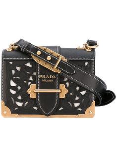 сумка на плечо с вырезными деталями Prada