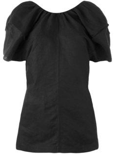 блузка с объемными рукавами Céline
