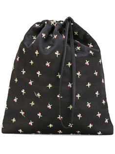 сумка с цветочной вышивкой Attico