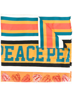полосатый шарф peace  Paul Smith