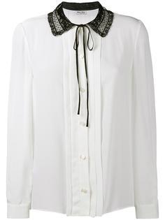 блузка с кружевным воротником  Miu Miu