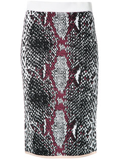 snakeskin print fitted skirt Theatre Products