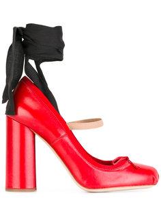туфли с завязками на щиколотке Miu Miu