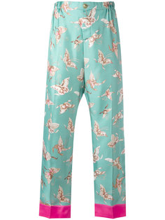 butterfly print trousers F.R.S For Restless Sleepers