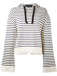 striped open back hoodie Filles A Papa