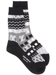 printed socks Issey Miyake