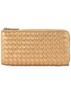 плетеный кошелек с круговой молнией Bottega Veneta