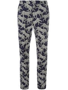брюки с леопардовым принтом Dries Van Noten