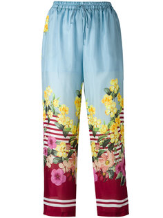 floral print trousers Blugirl