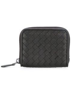 кожаный кошелек с плетеным узором Bottega Veneta