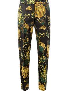 брюки кроя слим с цветочным принтом Dries Van Noten
