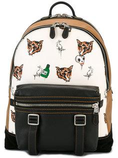 рюкзак с принтом лисиц Coach