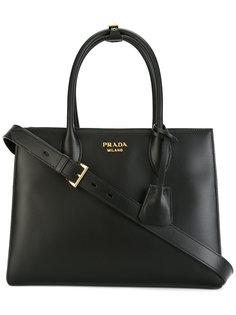классическая сумка-тоутс красными вставками Prada