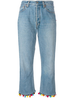 pompom cropped jeans Forte Couture