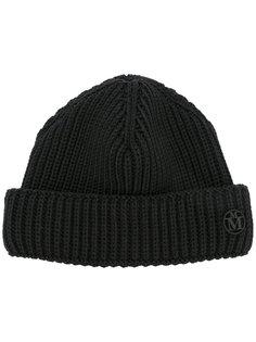 шапка в рубчик Maison Michel