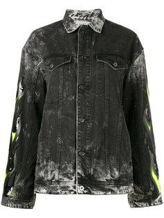 Renegade embellished denim jacket Filles A Papa