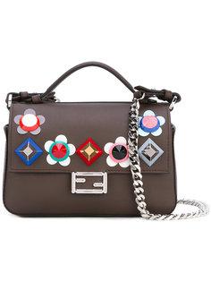 двухсторонняя сумка с цветочным украшением Fendi