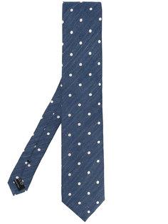 классический галстук с принтом в горох Tom Ford