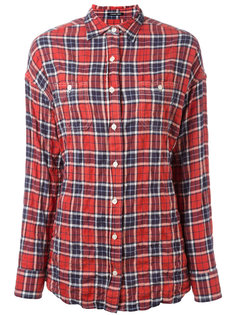 checked twisted back shirt R13