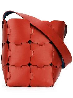 сумка-тоут с фигурными панелями Paco Rabanne