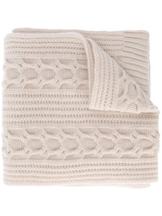 wide cable knit scarf  N.Peal