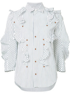 striped ruffle blouse Toga