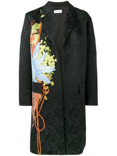 жаккардовое пальто с цветочным узором Dries Van Noten