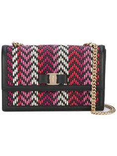 плетеная сумка на плечо Vara Salvatore Ferragamo