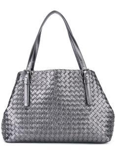сумка-тоут с плетеным эффектом Bottega Veneta