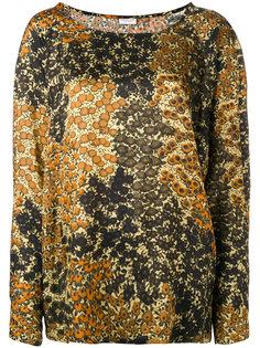 блузка с комбинированным принтом Dries Van Noten