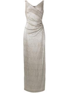metallic evening gown Lauren Ralph Lauren