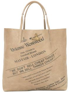 сумка с принтом-логотипом Vivienne Westwood